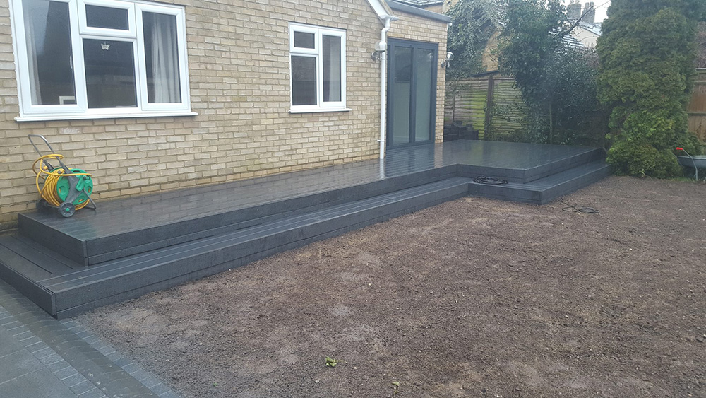 Making better use of an area with some composite decking in Ducklington