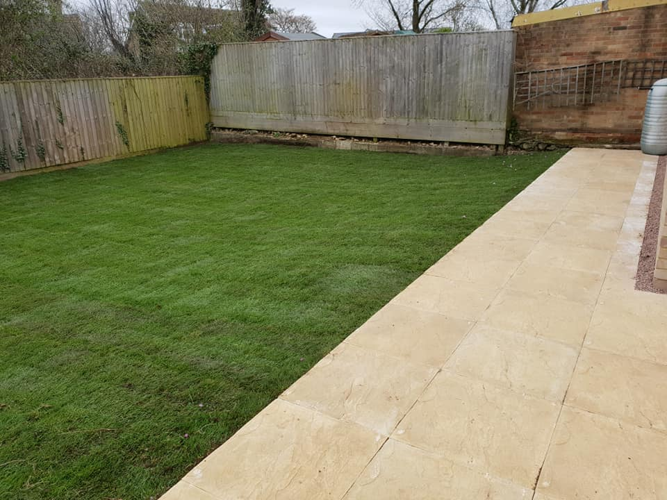 New Patio and Lawn in Bicester